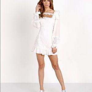 For love and lemons crema silk dress